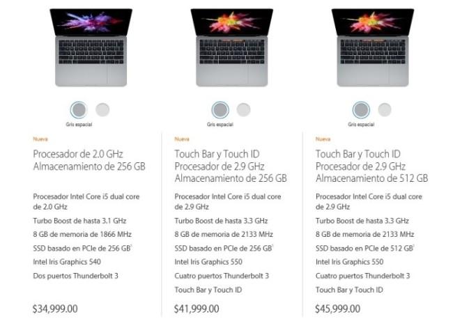 Precios MacBook 13pulg