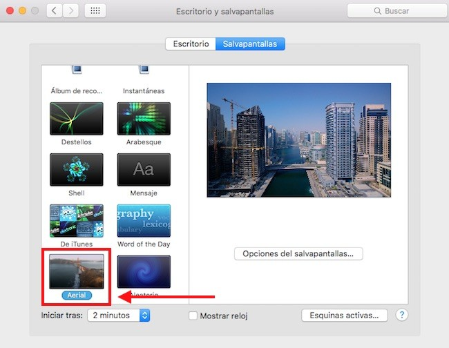 Salvapantallas Mac AppleTV 4