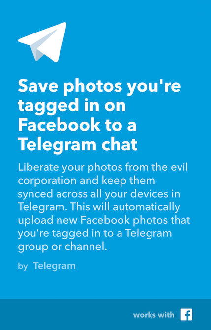 Telegram IFTTT1