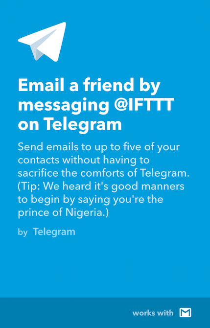 Telegram IFTTT2
