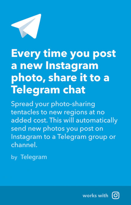 Telegram IFTTT3