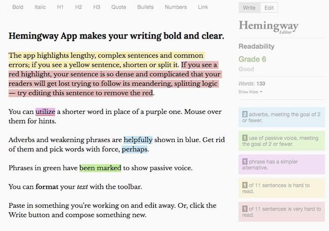 iOS - Hemingway app