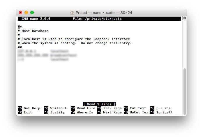 Archivo de host en Mac. Imagen de MacWorld