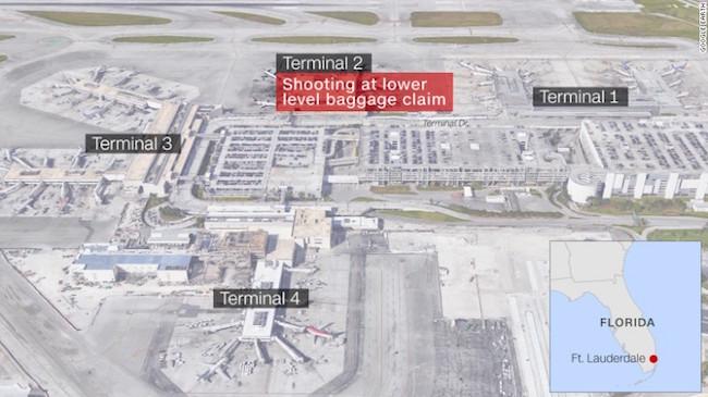 Mapa del aeropuerto - Fort Lauderdale, Florida