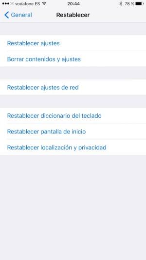 iphone-Borrar contenidos y ajustes