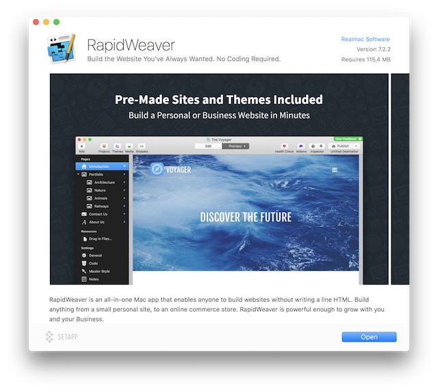 rapidweaver-setapp