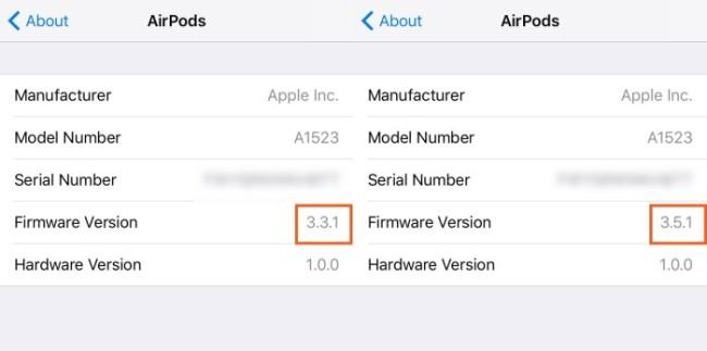 airpods actualizacion