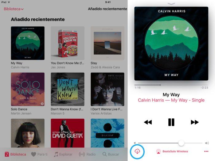 Descargar música iCloud