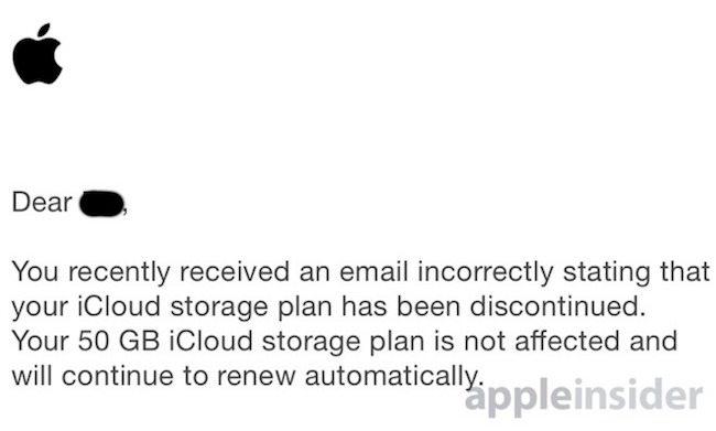 e-mails de iCloud