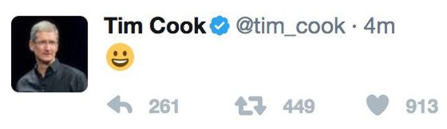 tuit de tim cook