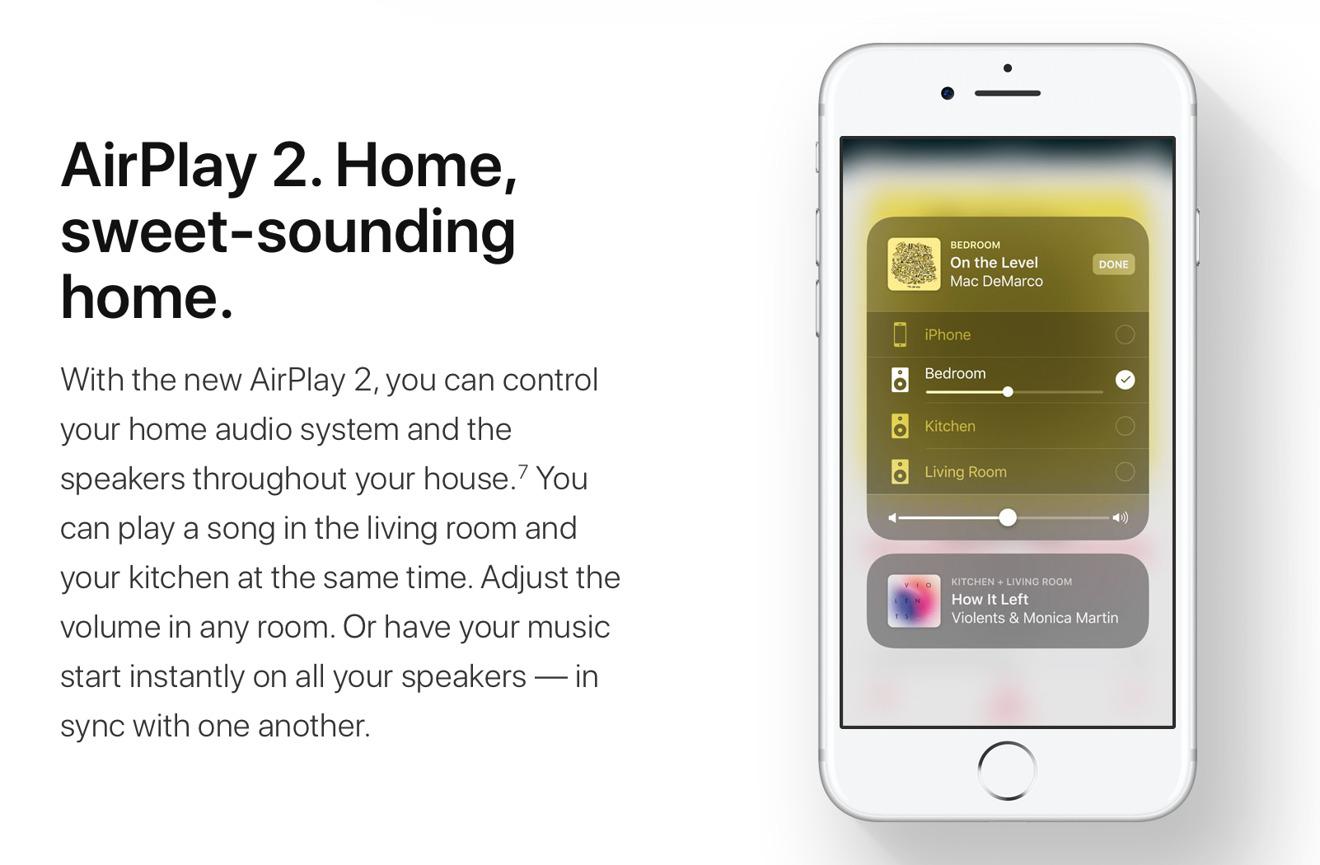 apple presenta airplay 2 y su soporte multisala para homekit iosmac. Black Bedroom Furniture Sets. Home Design Ideas