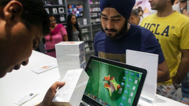Compra de productos Apple India