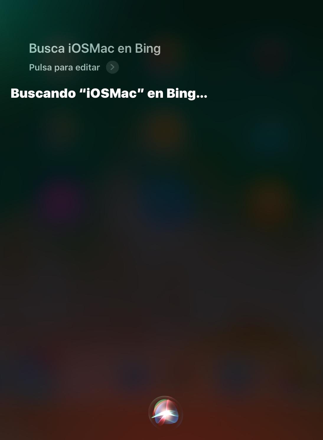 Buscar en Bing con Siri