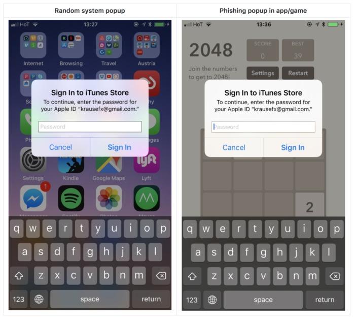 Ataque de phising ID de Apple