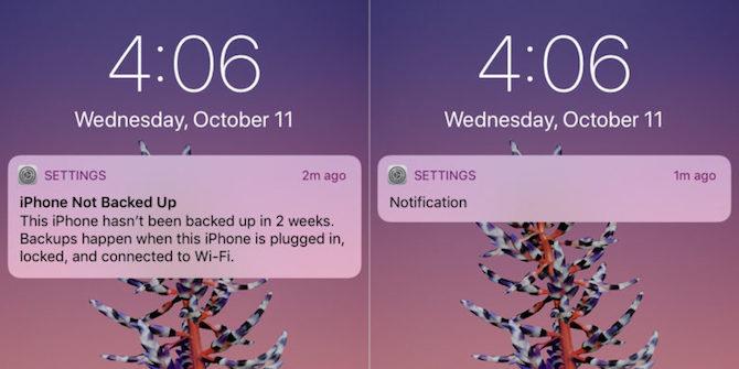 Cómo ocultar la información  de las notificaciones en iOS