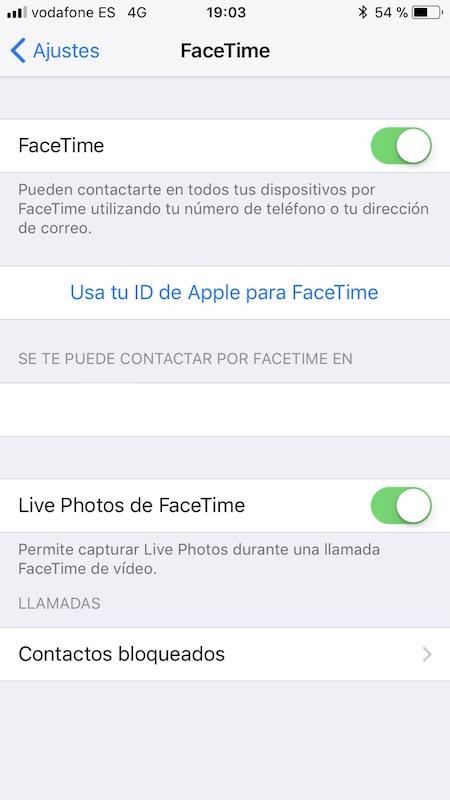 Live Photo en FaceTime