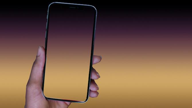 """Degradados minimalistas para ocultar el """"notch"""" del iPhone X como fondo de pantalla"""