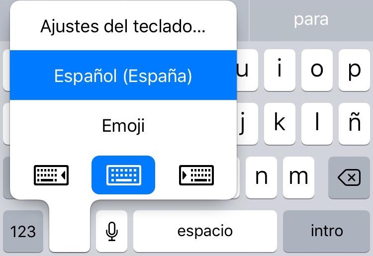 Adaptar el teclado a una mano en iOS 11