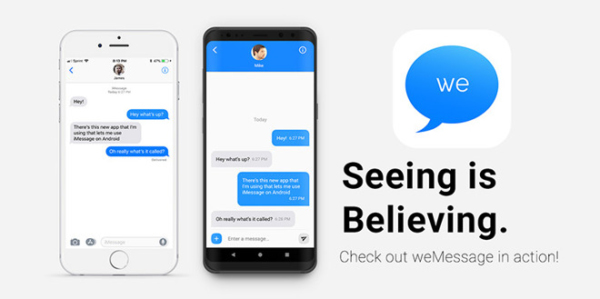 weMessage promete llevar iMessage a Android