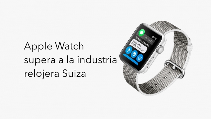 Apple Watch en camino a superar a la industria relojera suiza.