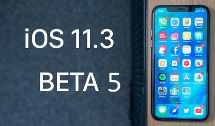 iOS 11.3 beta 5