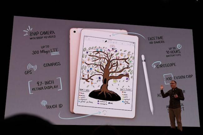 Apple presenta un nuevo iPad de 9,7″ y soporte para Apple Pencil