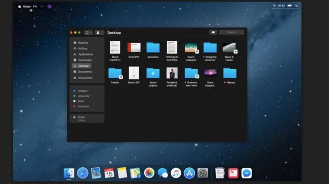 Concepto de finder MacOS 11