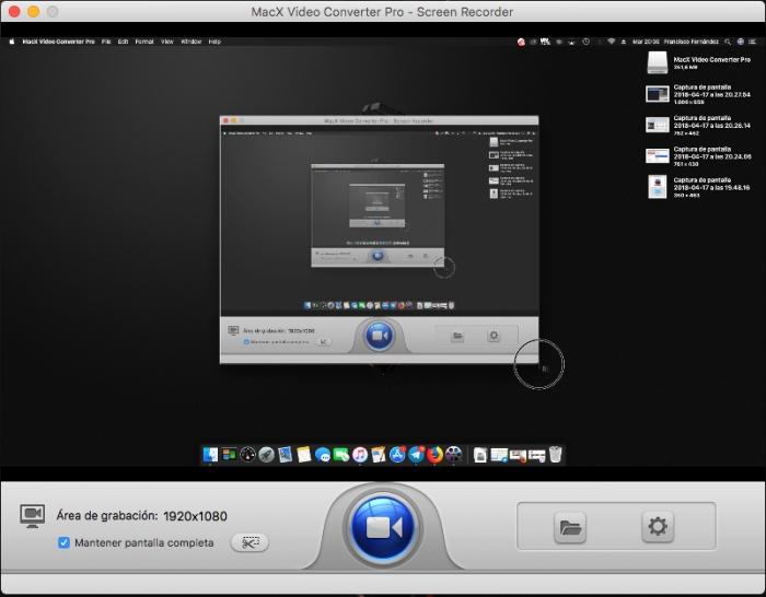 MacX Video Converter Pro - Grabación de pantalla