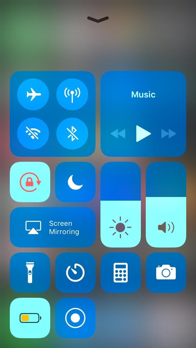 Colorea los módulos del Centro de Control de iOS 11, con ColorMyCCModules