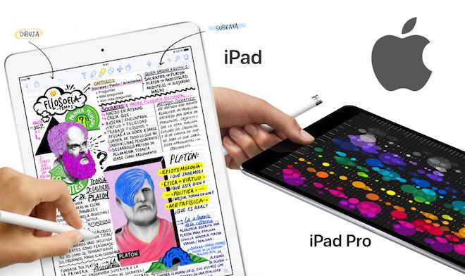 Diferencias entre el nuevo iPad 2018 y el iPad Pro de 10,5 pulgadas de 2017