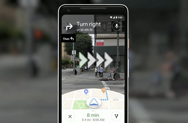 Google Maps pronto te dará indicaciones en realidad aumentada