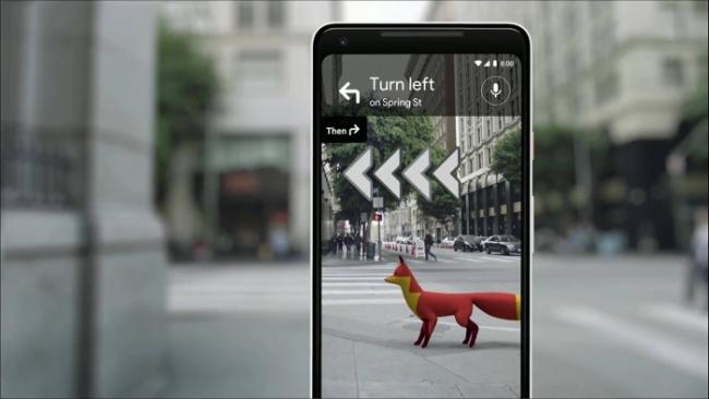 Google Maps AR animación