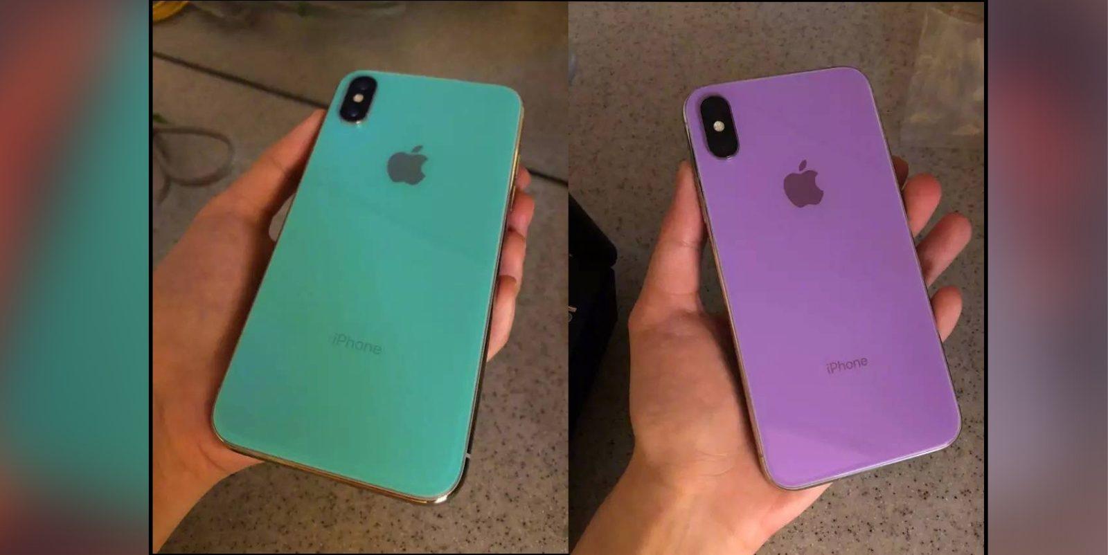 Un iPhone X de color