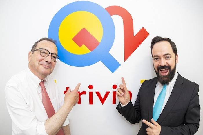 Presentadores Q12 Trivia Juanjo de la Iglesia y Toni Cano