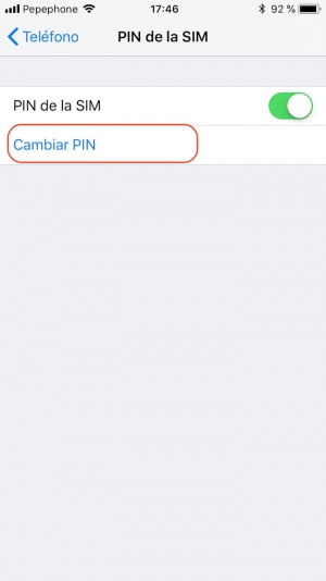 cambiar PIN del iPhone