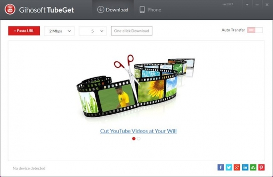 Gihosoft TubeGet: Mejor descargador gratuito de videos de YouTube