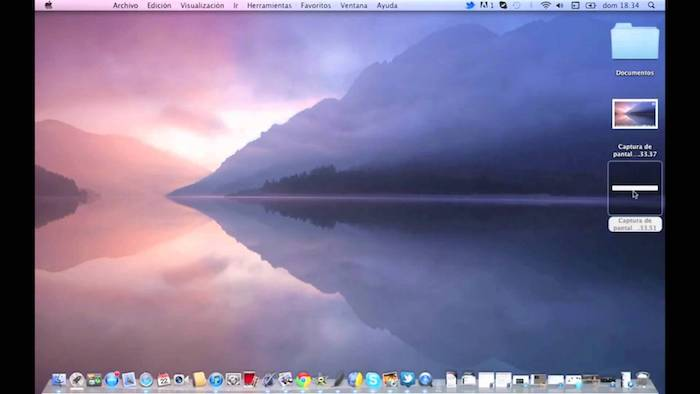 Captura de pantalla Mac 1