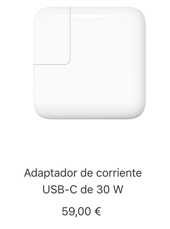 Adaptador de corriente USB-C de 30W precio
