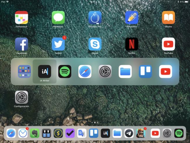 Comandos de teclado con iPad