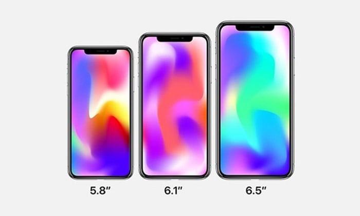 iPhone X, iPhone X Plus y un nuevo iPhone con pantalla LCD para este 2018