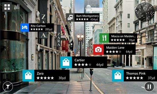 Aplicación de Nokia City Lens