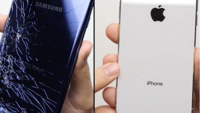 iPhone X vs Galaxy Note 9 enfrentados en una prueba de resistencia a caídas