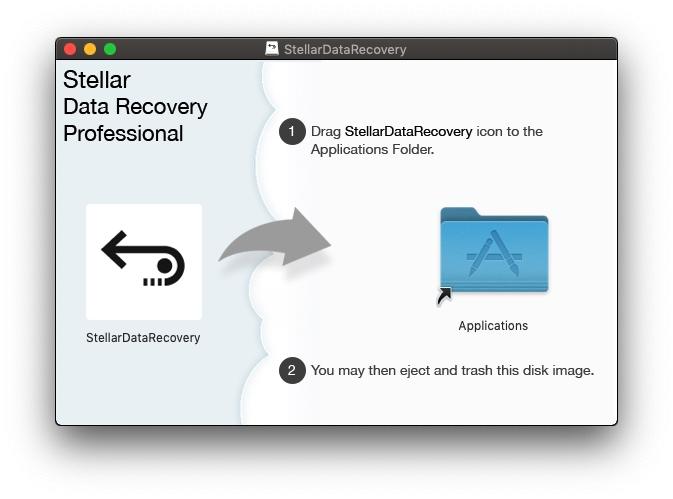 Instalación de Stellar Data Recovery Professional para Mac