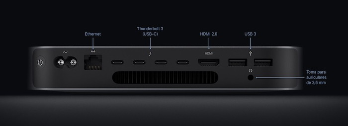 Mac mini 2018 usb-c