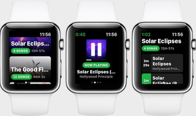 Spotify lanza su app para Apple Watch en una primera versión limitada y, pese a ello, prometedora