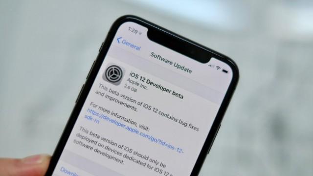 Nueva beta de iOS 12