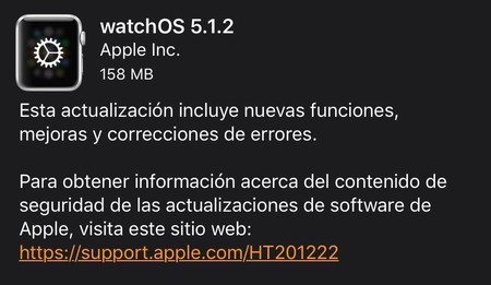 Nueva actualización para apple watch