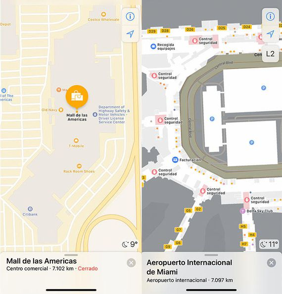 Apple maps interiores