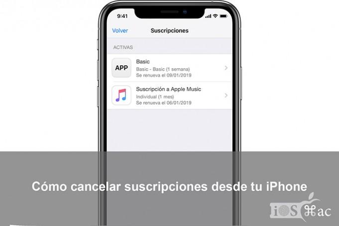 Cómo cancelar suscripciones desde tu iPhone
