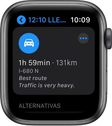 Apple Watch y Apple maps